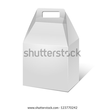 Paper food cardboard package - stock vector