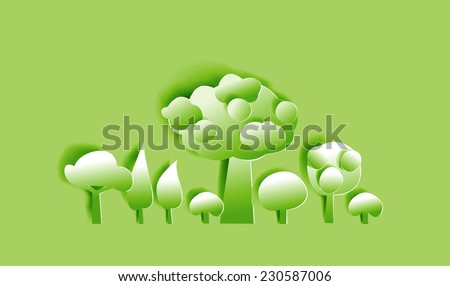 Paper forest abstract paper background - stock vector