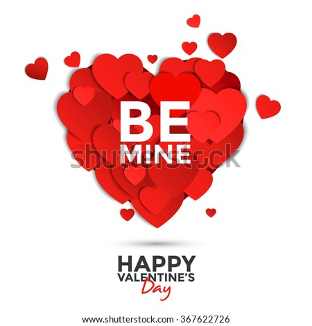 Paper heart Valentine's day card. Can be used for wallpaper, canvas print, decoration, banner, advertising. Vector - stock vector