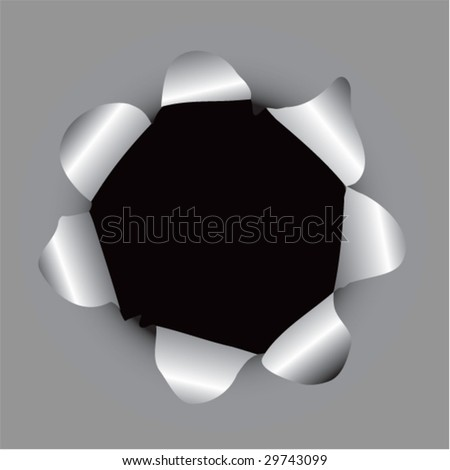 paper hole popping background - stock vector