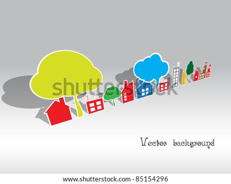 paper house - stock vector
