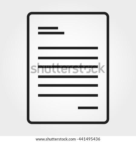 paper icon - stock vector