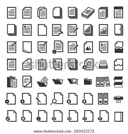 Paper icon,Document icon,Vector EPS10 - stock vector