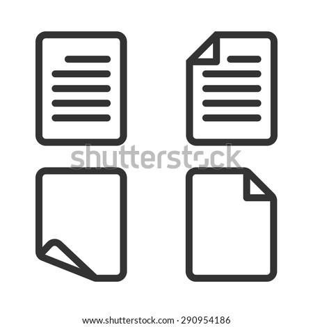 Paper icon,Document icon,Vector EPS10. - stock vector