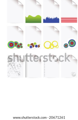 paper icons - stock vector