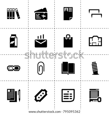 Paper Icons Vector Collection Filled Paper Stock Vector Royalty