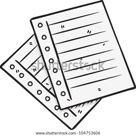 paper in doodle style - stock vector