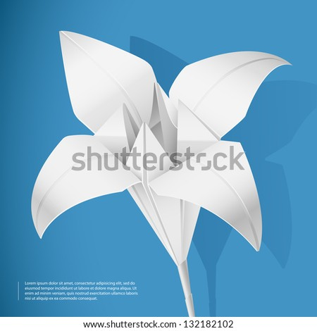 Paper lily - stock vector