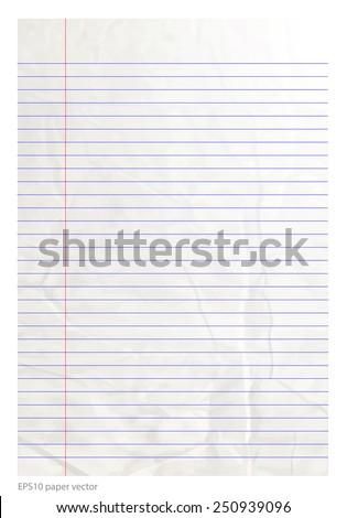 paper line be crumpled vector format - stock vector