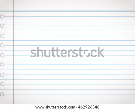 Paper Line Vector Background Detailed Lined Stock Vector 462926548