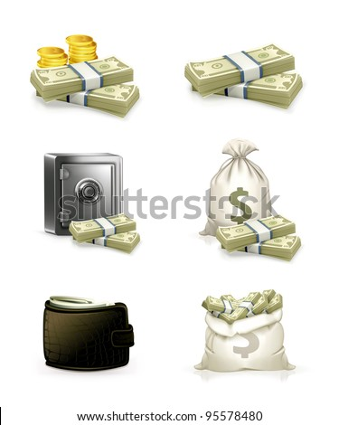 Paper money, vector set - stock vector