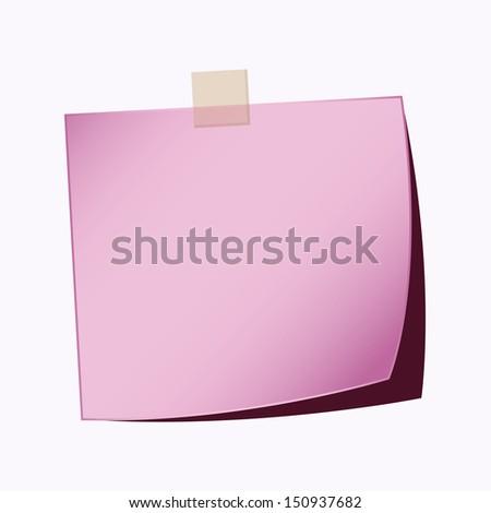 paper note purple color - stock vector