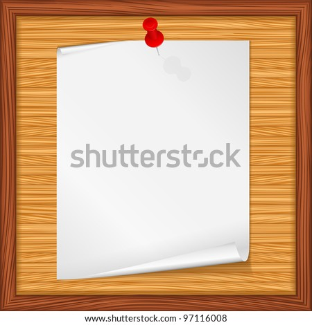 Paper note, vector eps10 illustration - stock vector