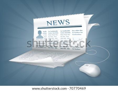 Paper notebook, eps10 - stock vector