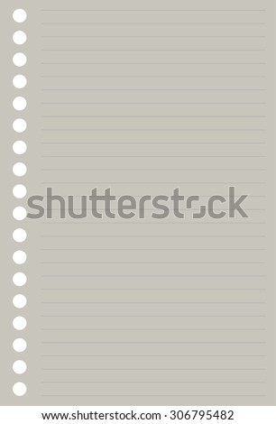 paper notepad. striped - stock vector