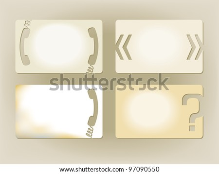 Paper notes - stock vector