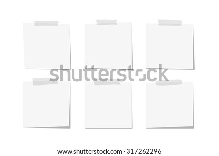 Paper notes and stickers, vector - stock vector