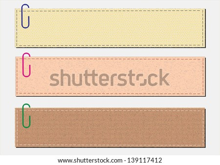 paper notes on a white background - stock vector
