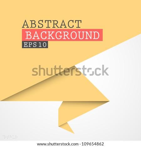 Paper origami vector banner - stock vector