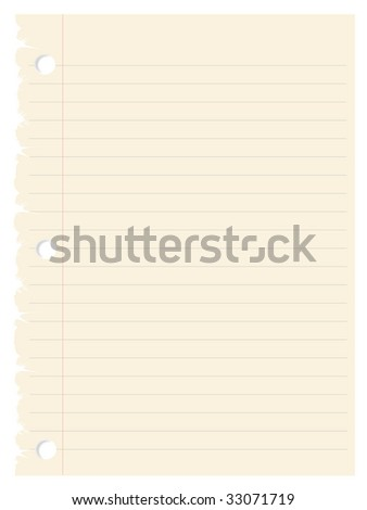 Paper , page - stock vector