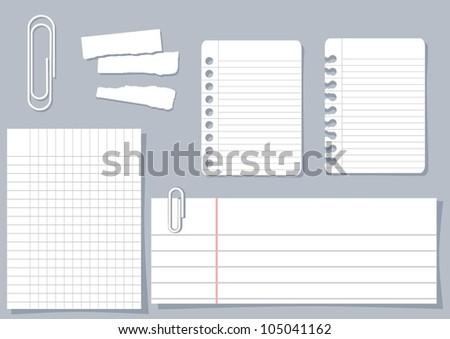 paper piece design elements - stock vector