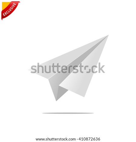 paper plane icon, vector launch icon, isolated start up sign