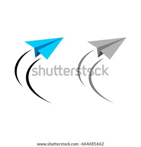 Paper plane logo template stock vector 664685662 shutterstock paper plane logo template pronofoot35fo Gallery