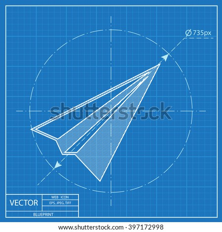 Paper plane sign airplane symbol travel vectores en stock 397172998 paper plane sign airplane symbol travel vector blueprint icon malvernweather Images