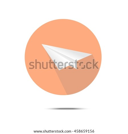 paper plane vector graphic icon