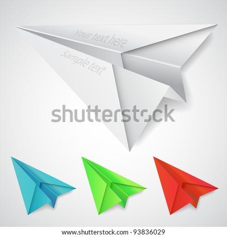 Paper Planes - stock vector