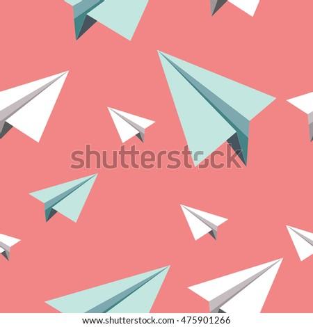 Amusing paper airplane vector photos