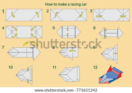 Paper Racing Car Origami