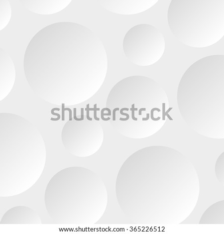 Paper rectangle banner on abstract circle background with drop shadows. Vector illustration - stock vector