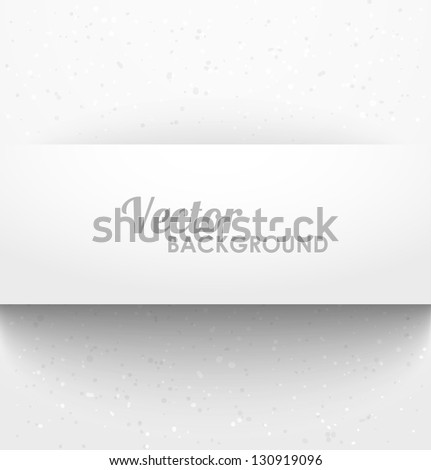 Paper rectangle banner with drop shadows on white background. Vector illustration - stock vector