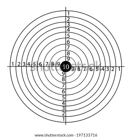 Paper rifle target - stock vector