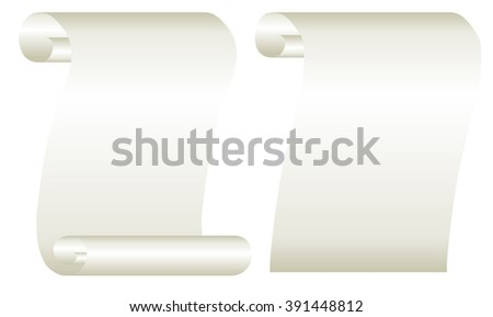 Paper scroll vector image or background illustration of a paper scroll