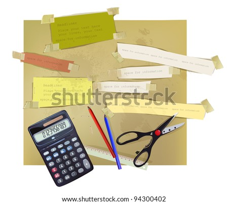 paper set - stock vector