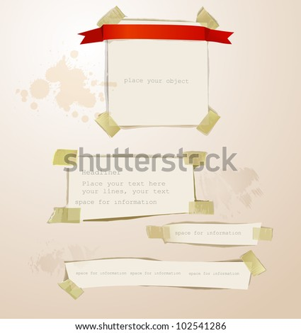paper set backgrounds - stock vector