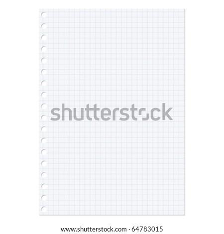 Paper sheet - stock vector