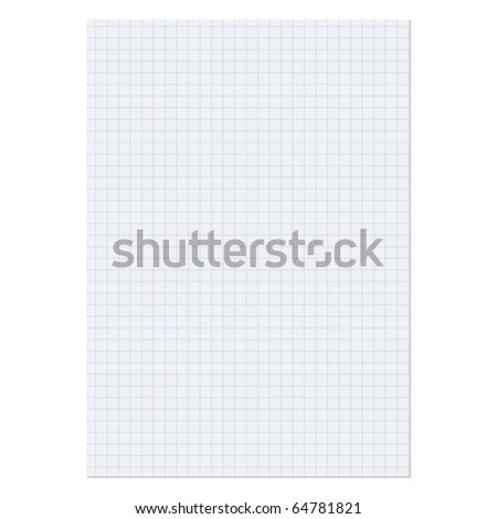 Paper sheet over a white background - stock vector