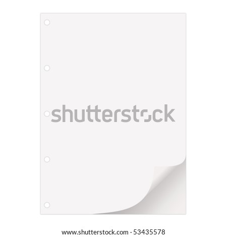 Paper sheet with a place for your text - stock vector