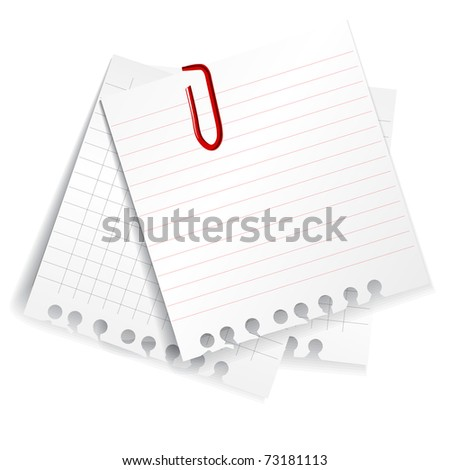 Paper sheets set - stock vector