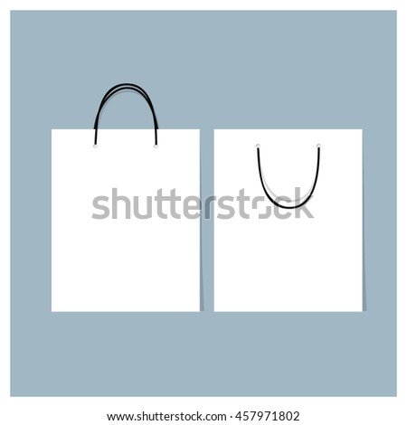 Paper Shopping Bags, vector illustration.