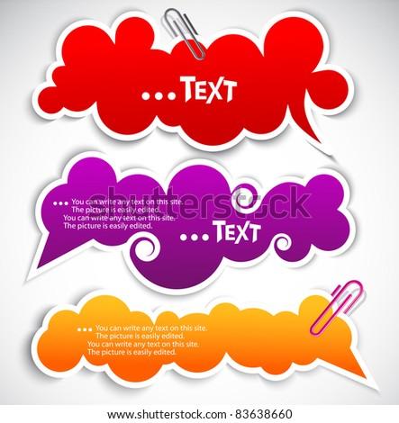 Paper speech bubble - stock vector