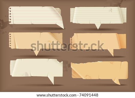Paper speech bubbles - stock vector
