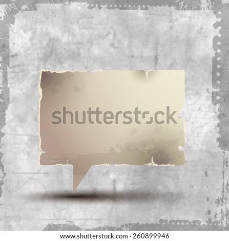 Paper speech bubbles rectangular vintage  - stock vector