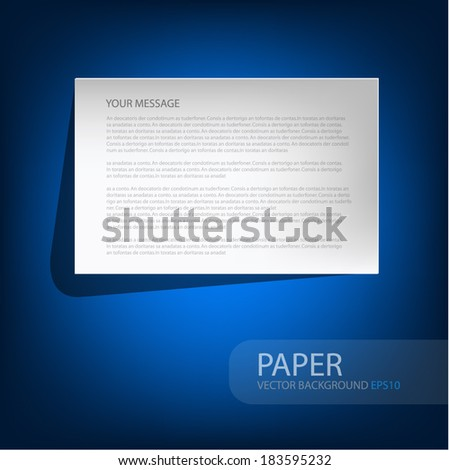 paper square background overlap white paper on blue background for text and message design , vector