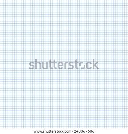 Paper square grid background, millimeter. Vector illustration. - stock vector