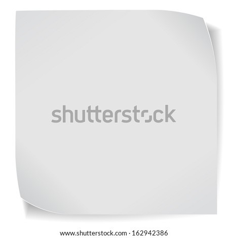 Paper sticker isolated on white background. Vector EPS10. - stock vector