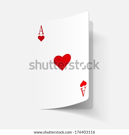 paper sticker: Playing Card. Isolated illustration icon - stock vector